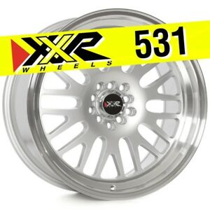 Xxr 531 18x9 5 5 100 5 114 3 20 Hyper Silver Wheels Set Of 4