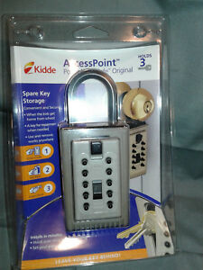 Kidde Portable Key Safe Lock Box Accesspoint new Free Ship
