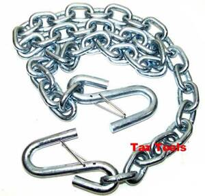 1 4 X 4ft Hitch Trailer Safety Chain With S hooks Safety Latches Towing Pulling