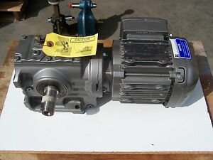 Sew Eurodrive Right Angle Gearmotor 15 Rpm Out 245 Hp 110 73 1 Ratio 3 Ph New