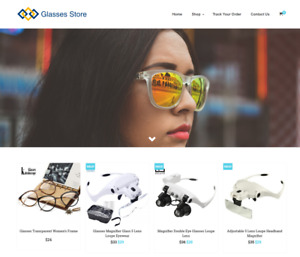 Established Glasses Turnkey Website Business For Sale Profitable Dropshipping