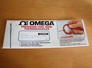 Omega Chal 002 Precision Fine Wire K Type Thermocouple Pk5 Nsfp d10 j10