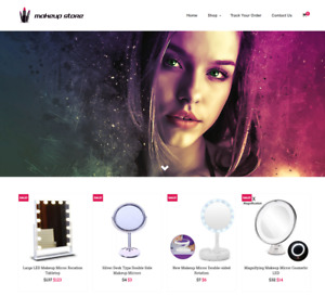 Established Makeup Turnkey Website Business For Sale Profitable Dropshipping