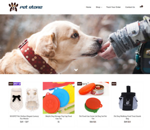 Established Pet Store Turnkey Website Business For Sale profitable Dropshipping
