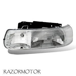 99 02 00 06 Driver Replacement Headlight For Chevy Silverado Suburban Tahoe
