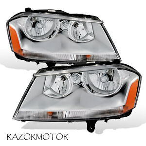 2008 2010 Replacement Headlight Pair For Dodge Avenger Included Bulbs Sockets