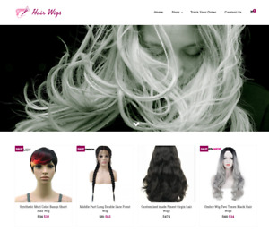 Hair Wigs Turnkey Website Business For Sale Profitable Dropshipping
