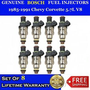 8x 22lb 4 Hole Upgraded Bosch Fuel Injectors For 85 91 Chevy Corvette 5 7l V8