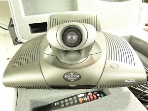 Polycom Viewstation Sp128 Pvs 1419 Cables Speakers Case Remote Complete Sys