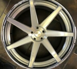 24 Dub One 3 piece Brushed Chrome Wheels Range Rover Hse Sport Super Charged