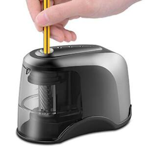 Electric Pencil Sharpener Heavy duty Helical Blade Usb Or Ac Or 4 Aa Batteries