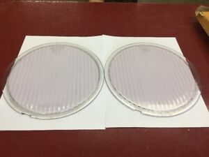 Late 20 S Hudson Super Six Headlight Purple Tint Lens Pair Beautiful Condition