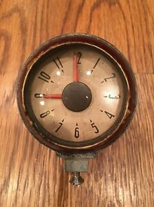 1938 Oldsmobile Borg 6v Dash Top Clock 38 Olds