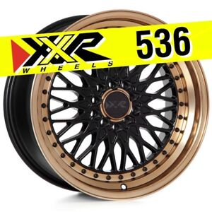 Xxr 536 17x9 5 100 5 114 3 25 Flat Black Bronze Wheels Set Of 4 Classic Mesh