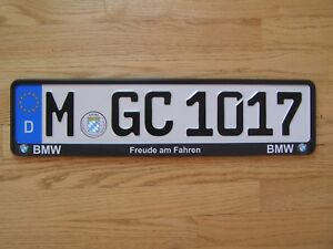 1 Bmw Munich German European License W frame Two License Plates To Choose From