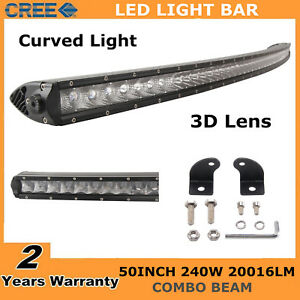 50inch 240w Curved Led Light Bar Combo Offroad Truck For Jeep Ford Single Row