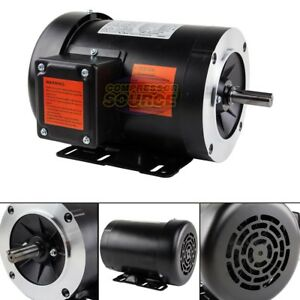 1 5 Hp Electric Motor 3 Phase 56c Frame 3600 Rpm Tefc 230 460 Volt New