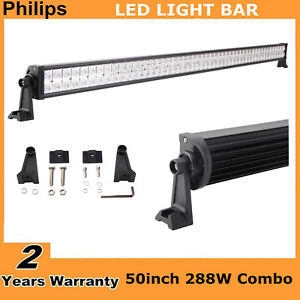 Philips 288w 50 In Led Light Bar Ford Fog Ute Atv 4wd 12v 24v Truck Combo 48 51