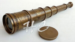 Vintage Brass Telescope 18 Maritime Nautical Brass Spyglass Antique Style Gift