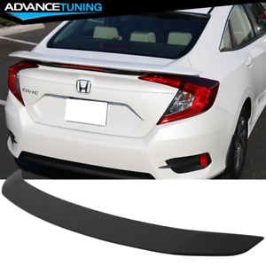 Fits 16 20 Honda Civic Sedan X 10th Gen Jdm Rs Style Abs Trunk Spoiler Wing