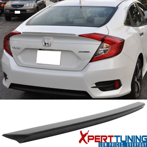 Fit 16 18 Honda Civic X 10th Sedan Oe Factory Unpainted Trunk Spoiler Wing Abs