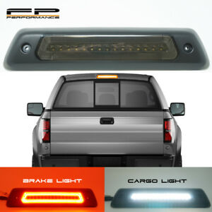 For 09 14 Ford F150 Optic Style Led Drl 3rd Third Brake Light Cargo Lamp Smoked