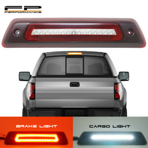 For 09 14 Ford F150 Optic Style Led 3rd Third Brake Light Cargo Lamp Red Clear