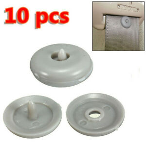 10x Rivet Suv Car Seat Belt 15mm Buckle Anti Slip Stop Buttons Clips Retainer