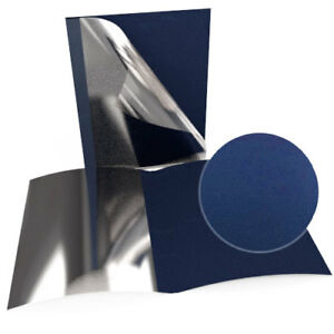 3 4 Navy Blue Leatherette Regency Clear Front Thermal Covers 100pk