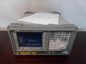 Agilent E4411b 1 5 Ghz 75 Ohm Spectrum Analyzer W Tracking Generator Cal d