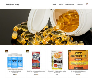 Supplement Store Turnkey Website Business For Sale Profitable Dropshipping