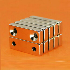1 100pcs Strong Cuboid Magnets With Double Holes Rare earth Neodymium N35 Grade
