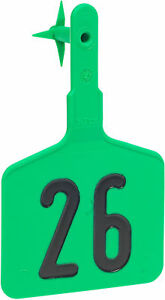 Ytex Lonestar Ez 1 piece Cattle Ear Tag Large Numbered Green 1 25