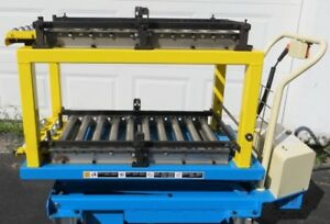 Bishamon Industries Mobilift Scissor Lift Table Bx50wbe 1100lbs Battery Powered