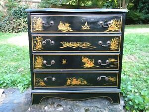 American Made Hall Chest Dresser Nightstand In Asian Style Vintage
