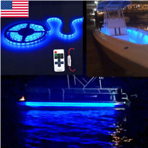 Led Boat Light Strip Deck Blue Waterproof Ip65 Bow Trailer Pontoon Lights Marine