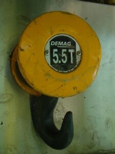 Demag 5 5 Ton Twin Sheave Cable Pulley Block Crane Hook