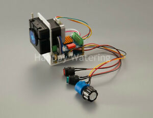 Quiet Peristaltic Pump Adjustable Self priming Water Pump 12v 24v Stepper Motor