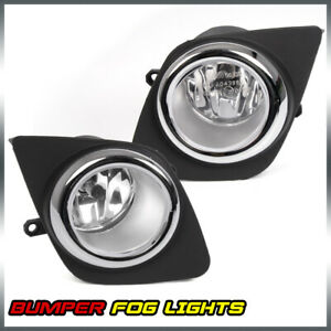 For 2009 2012 Toyota Rav4 Clear Lens Driving Bumper Fog Lights W Bulbs switch