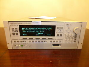 Agilent Hp 83650b 10mhz To 50ghz Synthesized Sweep Signal Generator 01 04 06 08