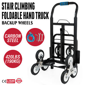 Stair Climbing Cart Stair Climber 420 Lb Capacity Hand Truck With Backup Wheels