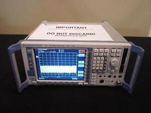 Rohde Schwarz Fsp3 9 Khz To 3 Ghz Spectrum Analyzer Calibrated