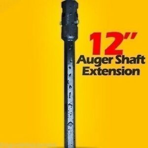 12 Auger Bit Extension For Skid Steer fits 2 Hex Auger Bits fixed Length usa