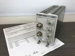 Keysight Agilent 86117a 30 50 Ghz Dual Channel Electrical Module Calibrated