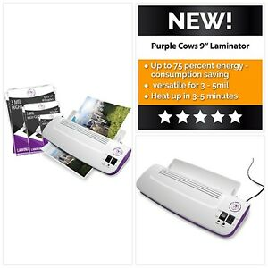 Purple Cows Hot And Cold 9quot Laminator Warms Up In Just 3 5 Minutes Tool Kits