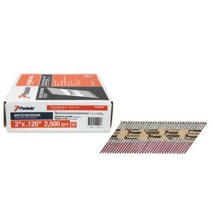 Collated Framing Nails Metallic Screw Staples Bright Finish Indoor Paper Tape