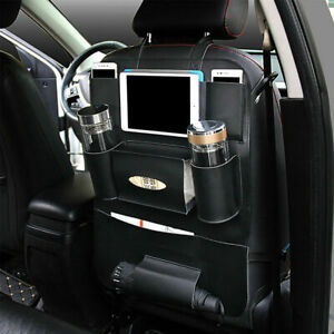 Black Universal Auto Car Organizer Trunk Rear Back Seat Storage Bag Car Pocket
