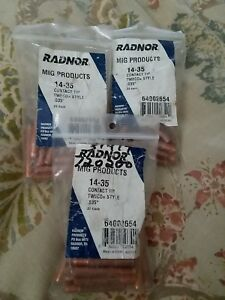Radnor 14 35 Contact Tip Tweco Style 035 64002654 75 Pieces Total Lot Of 3