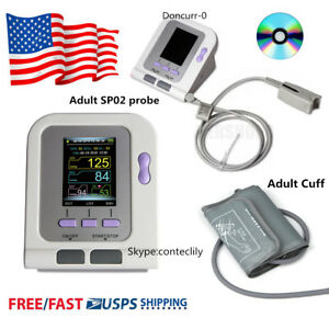 Digital Blood Pressure Monitor electronic Sphygmomanometer nibp Cuff spo2 Probe
