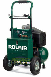 Portable Contractor 2 Hp Air Compressor Rolair Vt20tb Single Stage 115v 125 Psi
